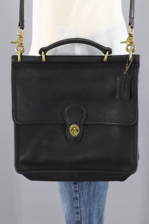 Vintage Coach Medium Messenger Bag Black Leather Style H4C 9927-ThisBlueBird - Modern Vintage