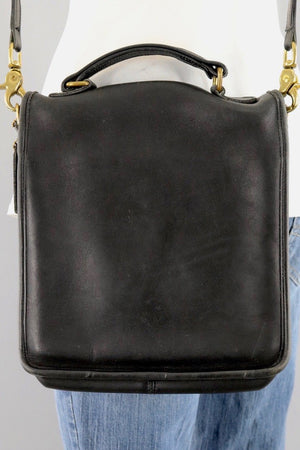 Vintage Coach Small Messenger Bag Black Leather Style A7L 5130-ThisBlueBird - Modern Vintage