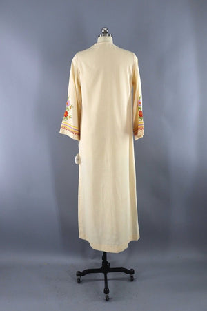 Vintage Embroidered Caftan Dress-ThisBlueBird - Modern Vintage