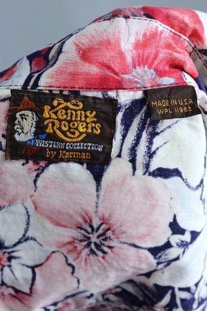 Vintage Floral Print Western Shirt / Kenny Rogers-ThisBlueBird - Modern Vintage