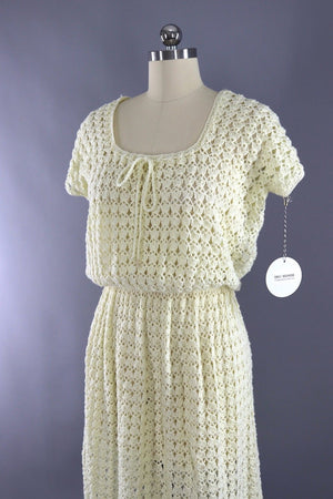 Vintage Ivory Knitted Day Dress
