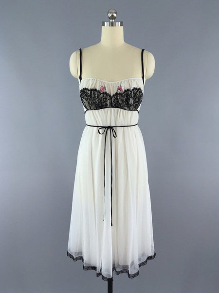 Vintage Nightgown Lingerie by Claire Sandra for Lucie Ann Beverly Hills