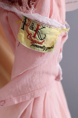 Vintage Pink Cotton Day Dress - ThisBlueBird