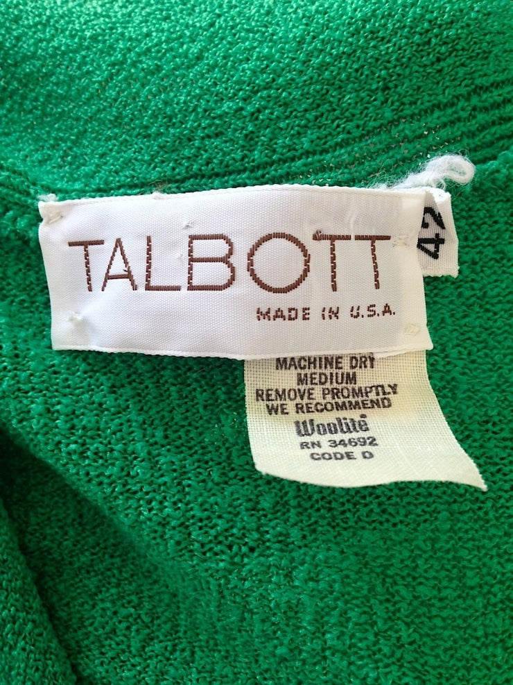 Vintage Preppy Green Knit Top / Talbott Tops ThisBlueBird - Sale