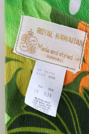 Vintage Royal Hawaiian Maxi Dress-ThisBlueBird - Modern Vintage