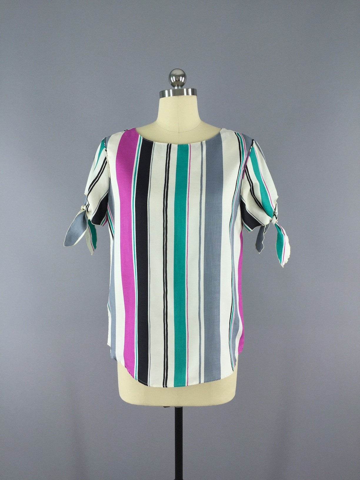 Vintage Ship N Shore  Blouse / Nautical Stripes Tops ThisBlueBird - Sale