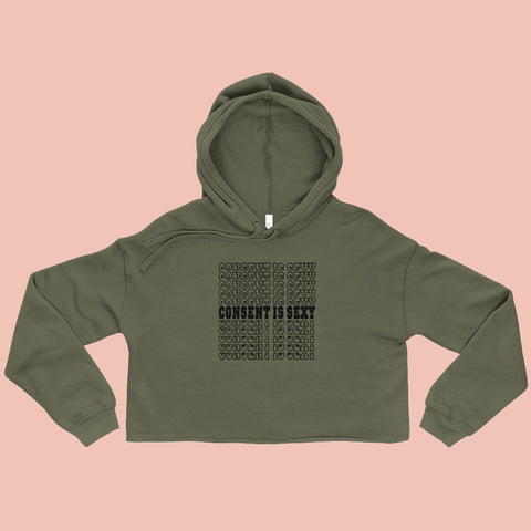 Consent is Sexy Crop Hoodie