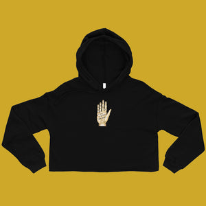 Fate Hand (Antique) Crop Hoodie