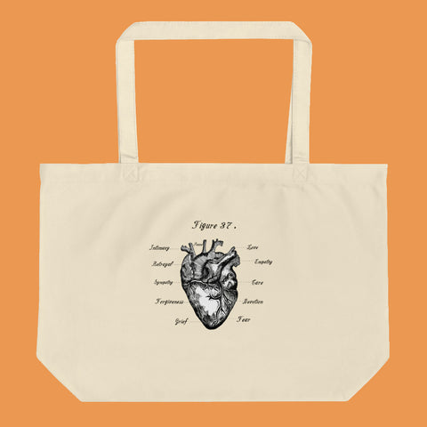 Heart is a Muscle Large Tote