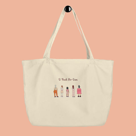 To Peach Her Own Large Tote