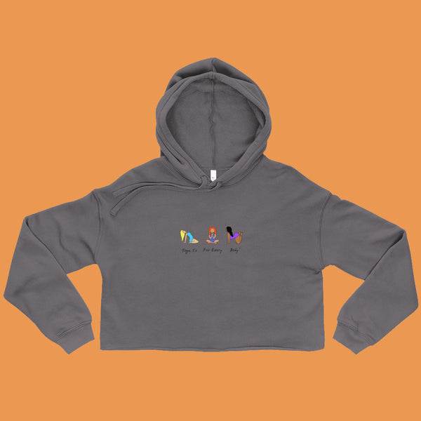 Yoga is For Every Body Crop Hoodie