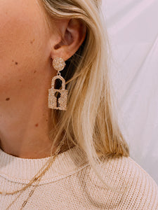 Lock Away The Key Earrings