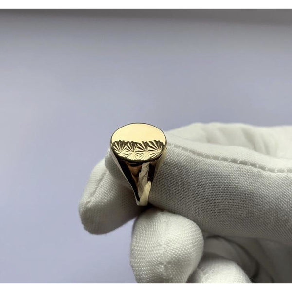 9K Gold Signet Ring