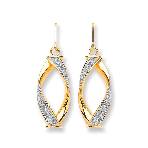 Moondust Drop Earrings 9K Gold - Desanto