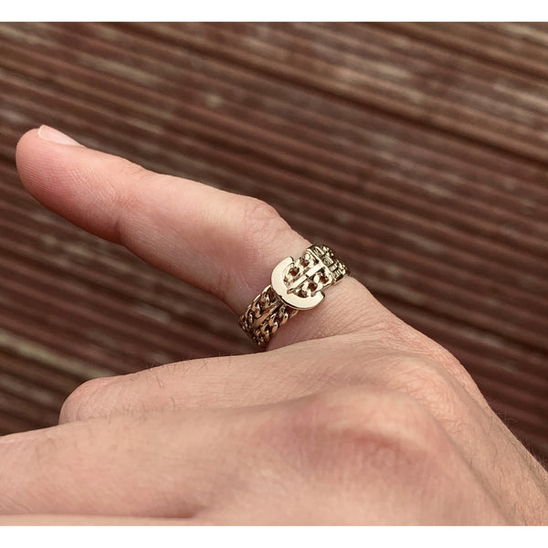 9K Gold Buckle Ring