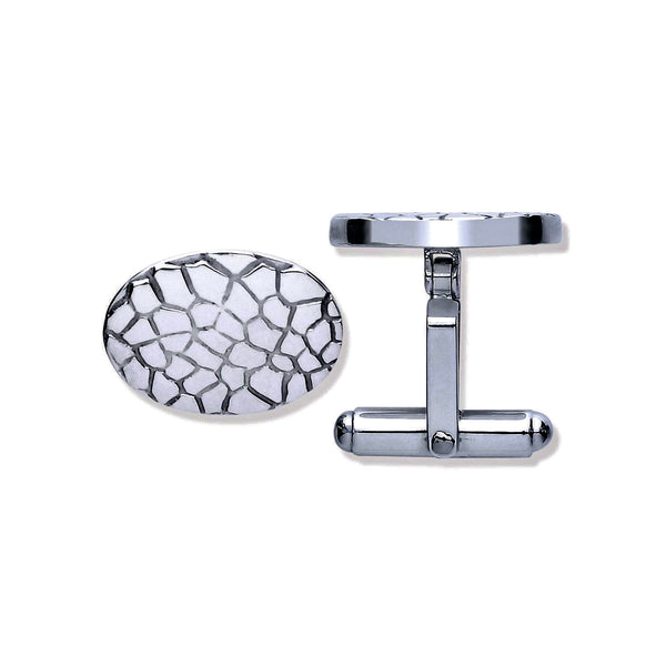 Crocodile Cufflinks - Sterling Silver