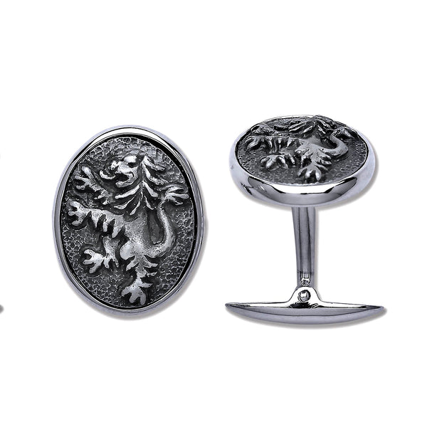 Rampant Lion Cufflinks - Sterling Silver