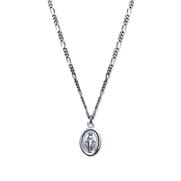 "Miraculous Medallion 17"" - Sterling Silver"