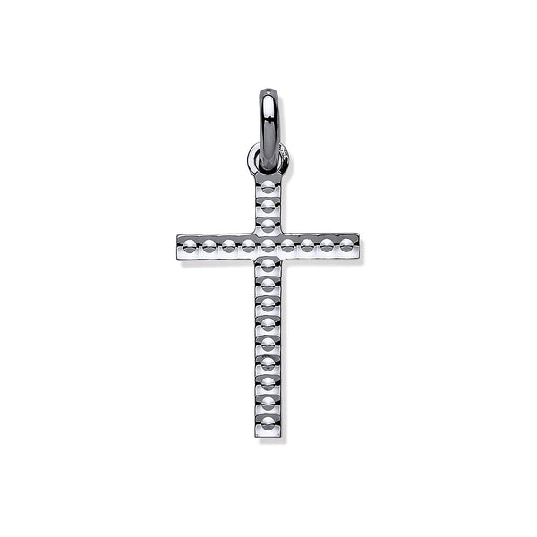Embossed Crucifix - Sterling Silver