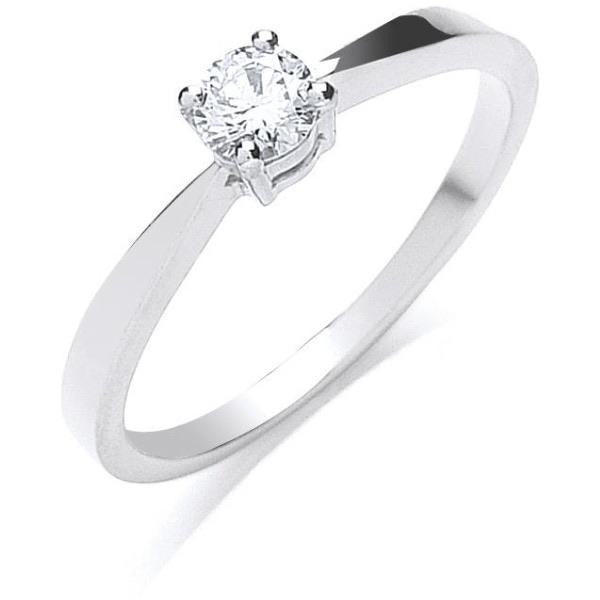 Platinum Diamond Engagement Ring 0.25Ct G/H-Si - Desanto