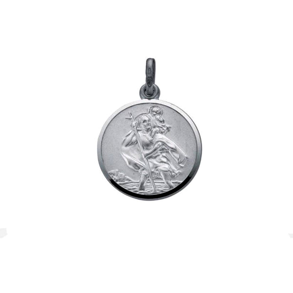 St Christopher Coin - Sterling Silver
