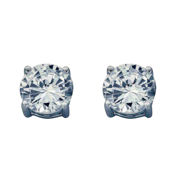 Claw Set Studs - Sterling Silver