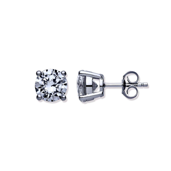 Brlliant Cut Studs - Sterling Silver