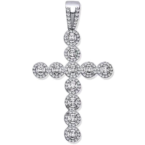 Halo Crucifix - Sterling Silver