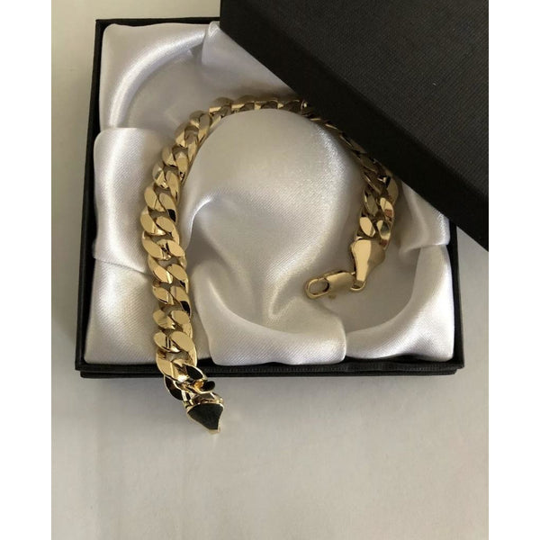"9K Gold Filled 8"" Curb Bracelet"