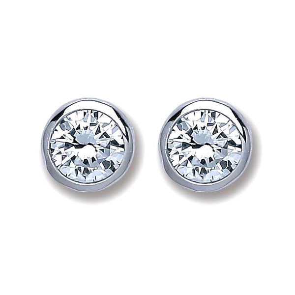 Rub Over Studs - Sterling Silver