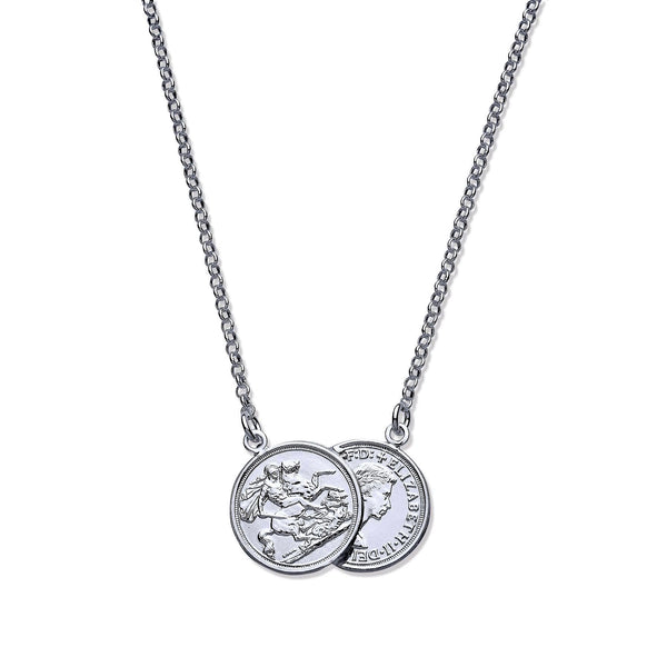 "Double Coin Chain 17"" - Sterling Silver"