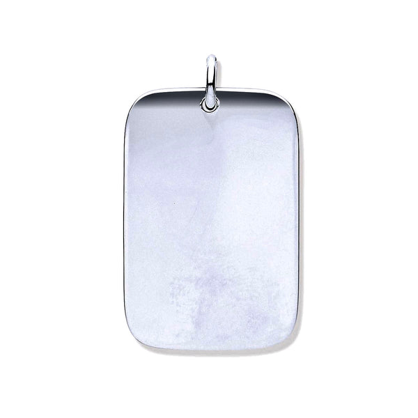 Classic Dog Tag - Sterling Silver