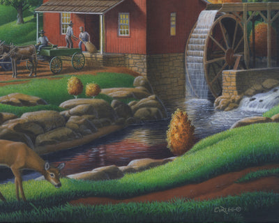 Old Appalachian Grist Mill Landscape - Artonique
