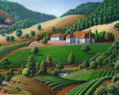 Wine Country Landscape - Artonique