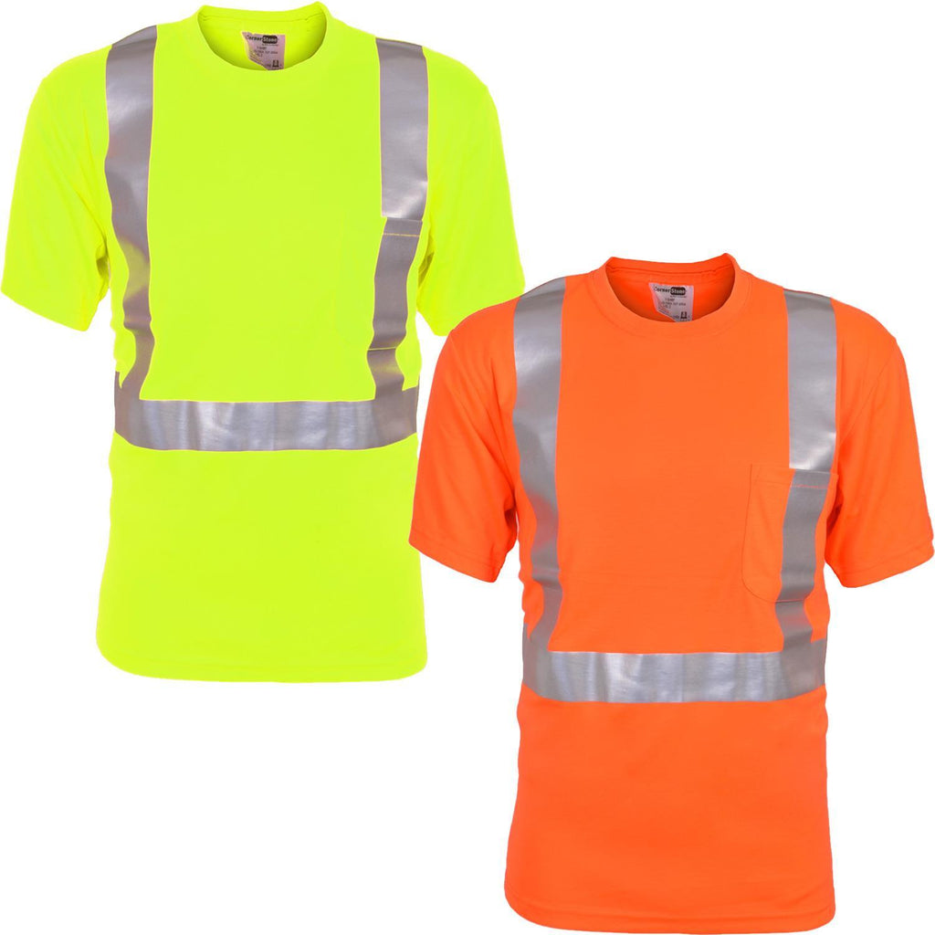 2 Pack Hi Vis Viz Visibility Short Sleeve Safety Tshirt