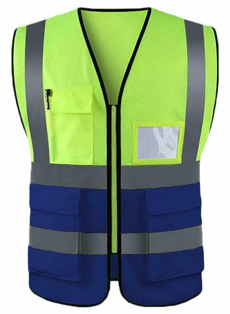 2 Pack Hi Vis Safety Vest High Visibility Waistcoat