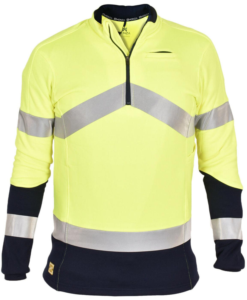 Hi Viz High Visibility Long Sleeve Polo Shirt