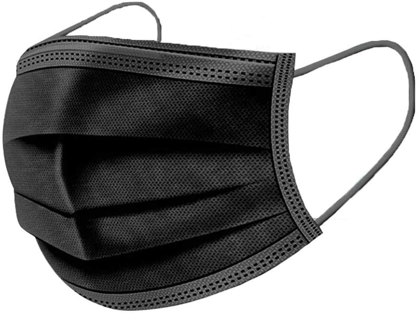 True Face Unisex 50 Pack Disposable Mask Black One Size