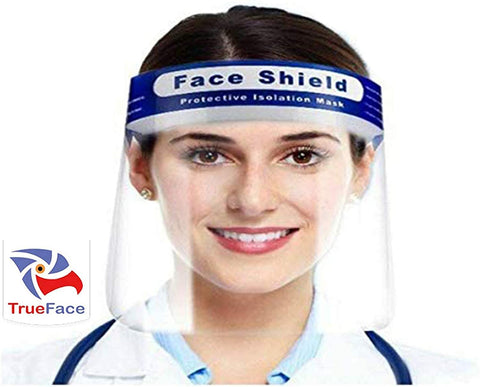 True Face Shield Blue 10 Packs