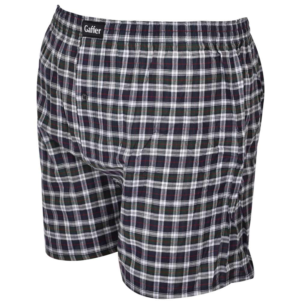 Mens New Branded Crosshatch Pack of 2 Boxers In Grey Check Red Check Colours