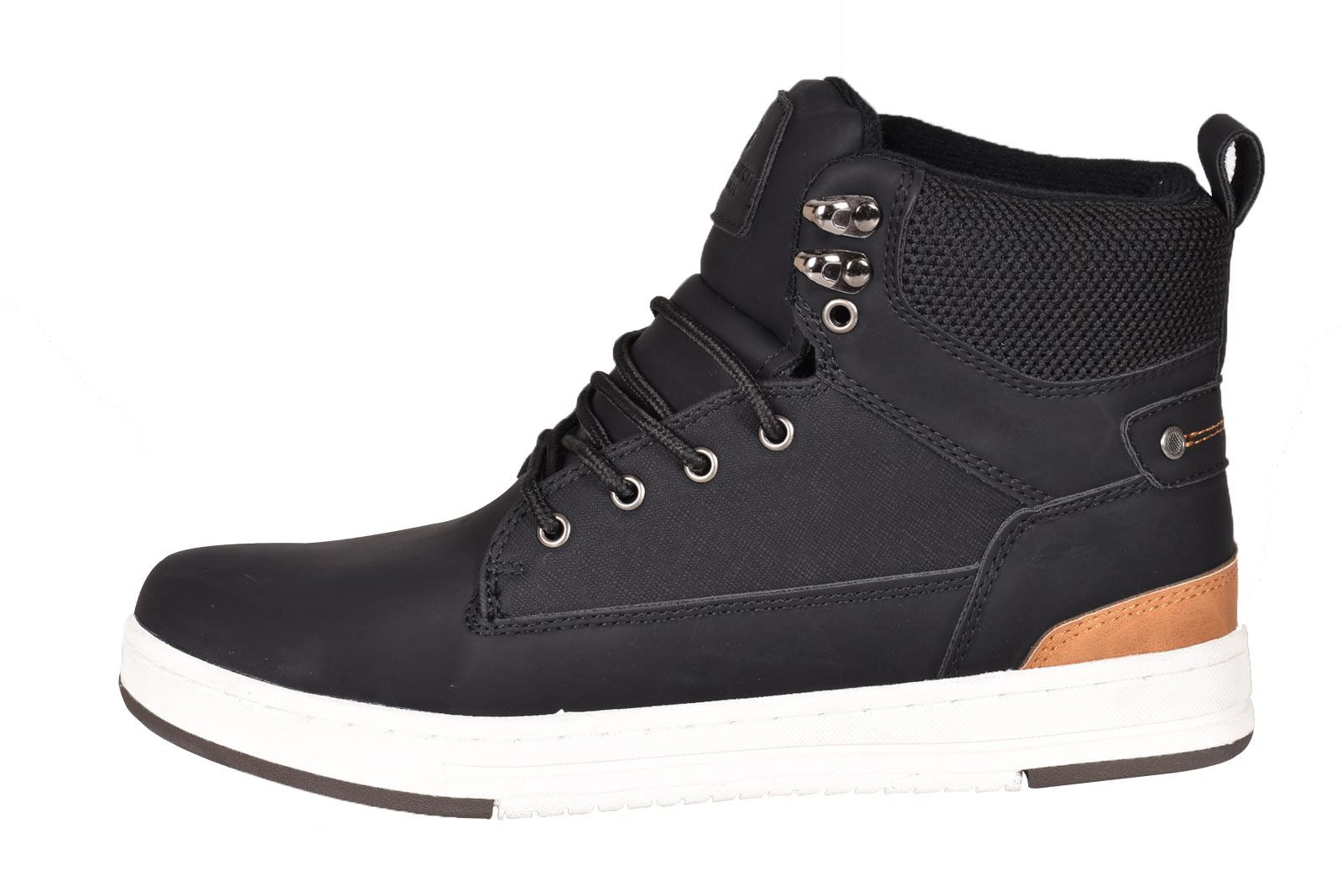 Crosshatch Mens Flat Trainers Lace up Ankle Boots
