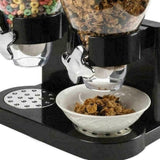 Dry Food Storage Double Cereal Dispenser Container