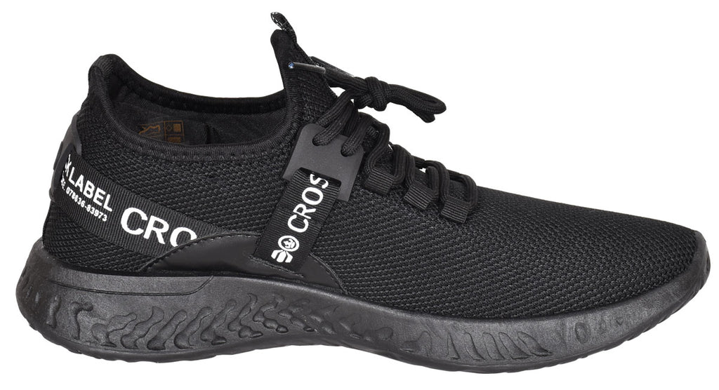 Mens Lace Up Breathable Trainers Black