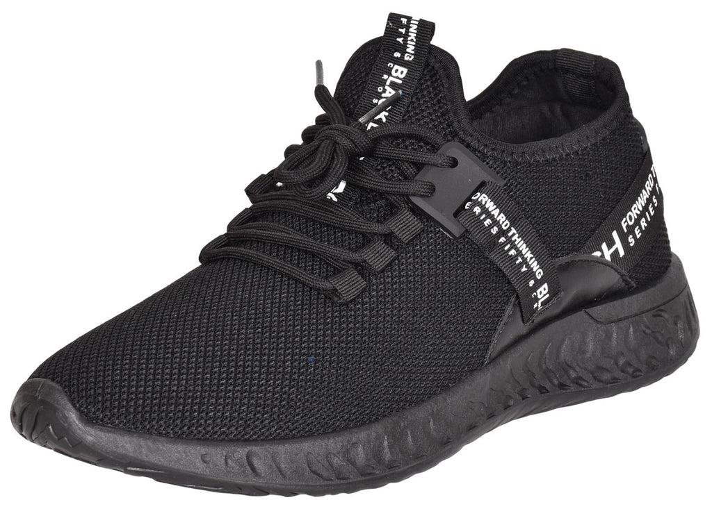 Mens Lace Up Breathable Mesh Upper Chunky Trainers