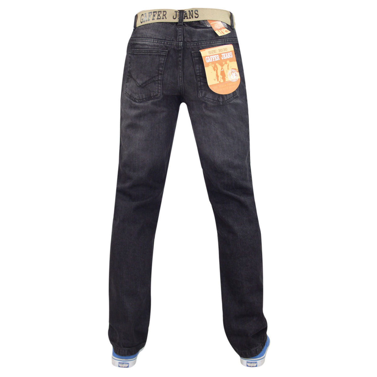 Gaffer Men Straight Leg Jeans Black