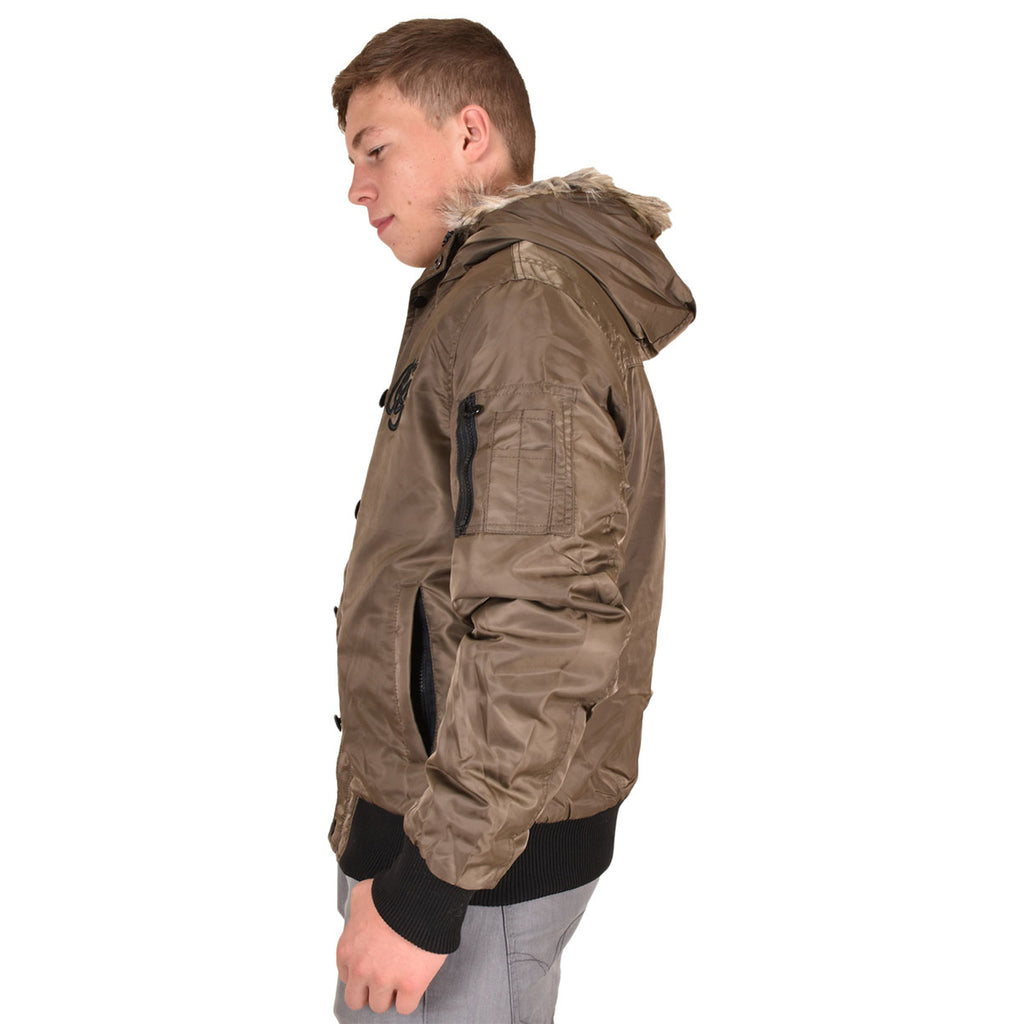 Crosshatch Cackton Jacket Brown