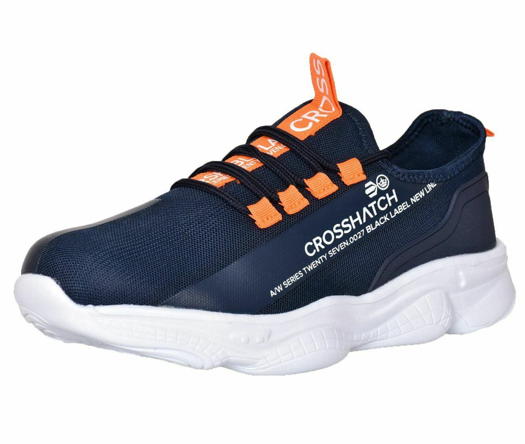 Crosshatch Mens Lace up Trainers Flat Sneaker Running Shoes