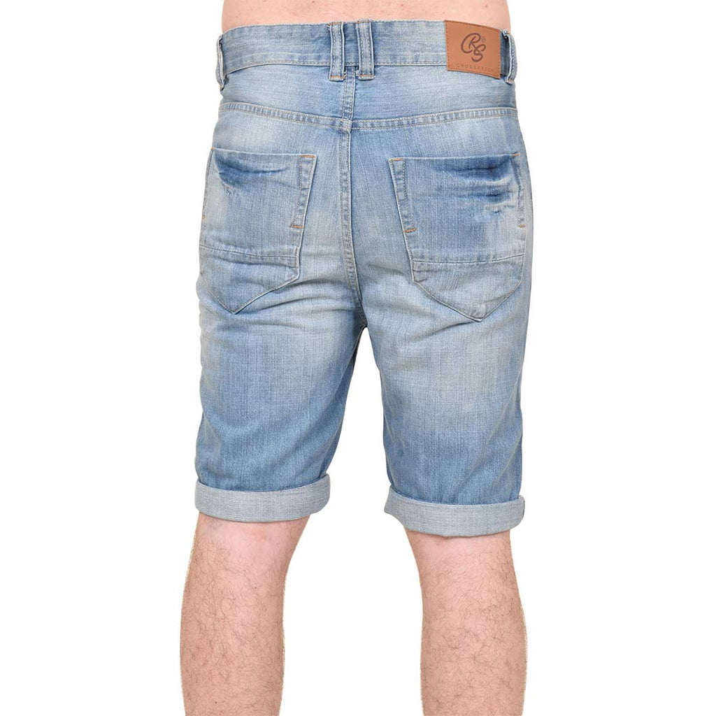 Crosshatch Treyforth Shorts Light Wash