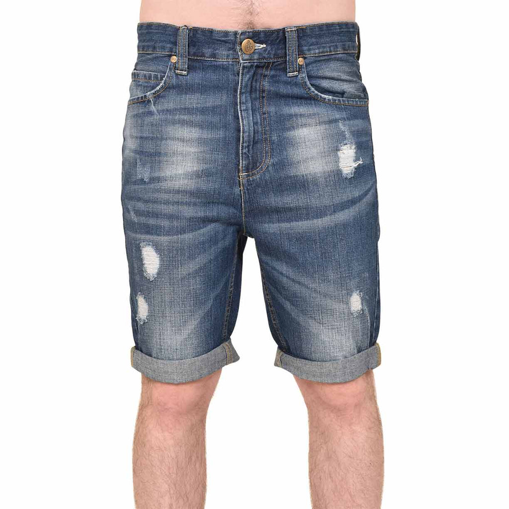 Crosshatch Treyrip Shorts Light Wash