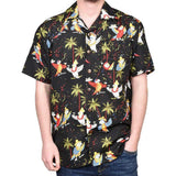 True Face Hawaiian Shirts Black